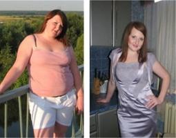 До и после приема напитка