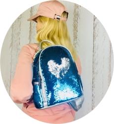 красивый рюкзак с пайетками