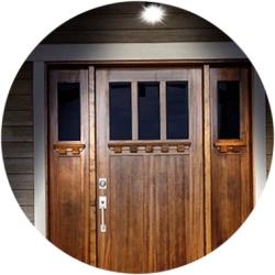 освещение входа в дом