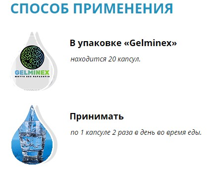 gelminex капсулы инструкция
