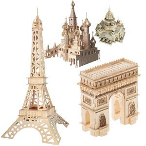 Коллекция деревянных 3D-пазлов «Достопримечательности мира»
