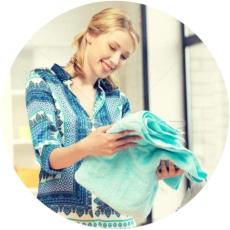 чистое белье без пятен