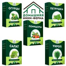 Домашние огурцы, помидоры, зелень мини-ферма для выращивания дома